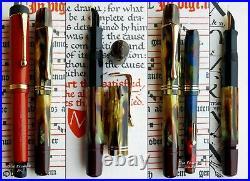 Pelikan 101N Tortoise Celluloid RHR Fountain Pen 1938. 14C Full Flex Nib RARE