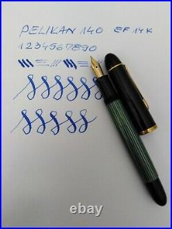 Pelikan 140 Fountain Pen 14k EF Flex Nib Rare Vintage Excellent