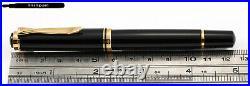 Pelikan M600 Piston Fountain Pen in Black-Gold with very rare 18K PF M-nib