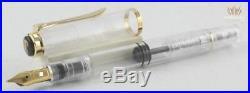 Pelikan Special Edition 2012 Rare M200 Clear Demonstrator Fountain Pen Elegant