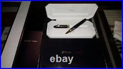 Penna Roller Oro Nera Omas 360 Black Gold Rollerball Pen Rare Triangular