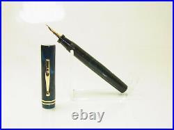 RARE 1920´s CARTER´s 5125 Dark Blue Marbled Fountain Pen M Nib