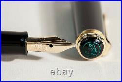 RARE 1950 PELIKAN 400 Fountain Pen BLACK STRIPED OB flex BBB 14K Nib