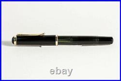 RARE 1950 PELIKAN 400 Fountain Pen BLACK STRIPED flexible F 14K Nib