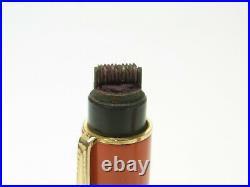 RARE & BIG ANGLOAMER coral red hard rubber fountain pen 14ct flexy B nib