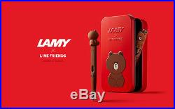 RARE-LAMY-LINE&FRIEND BROWN-Limited Edition- COLLECTION-SPECIAL-FOUNTAIN PEN RED