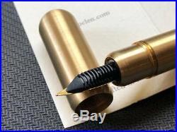 RARE LOCLEN Raw Brass Big Liliput Made of brass Fountain pen