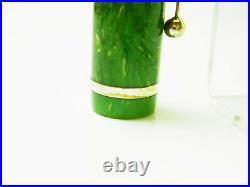 RARE Large 1920´s CHILTON Jade Green Pneumatic Fountain Pen Flexy 14ct M Nib