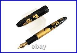 RARE MONTBLANC GOLD FOILS CALIGRAHY 18 K GOLD GOLD NIB Fountain Pen