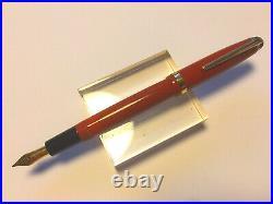 RARE MONTBLANC n° 214 CORAL RED-BF-1950 c. Gold nib F