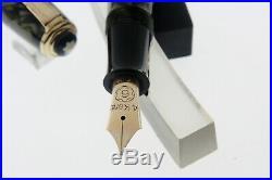 RARE MONTBLANC n° 226 GREEN MARBLED-BF-1950 c. Gold nib M