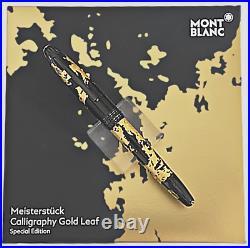 RARE NEW MONTBLANC GOLD FOILS CALIGRAHY 18 K GOLD GOLD NIB Fountain Pen