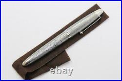 RARE PILOT Silvern Sterling Silver TSUMUGI fountain pen Nib M 18Gold JAPAN 2938