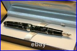 RARE Sailor 1911 Silver Mosaic Profit Fountain Pen Black Medium Nib 11-3011-420