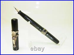RARE THE JAXON PEN Self Filling No 3 BCHR Fountain Pen Flexy 14ct M nib