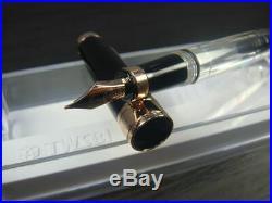 RARE TWSBI DIAMOND 580 Black & Rose Gold Fountain Pen Medium Nib BRAND NEW