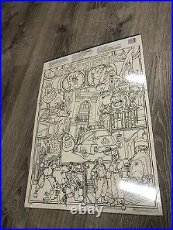 RARE The Real Ghostbusters Poster Pen Set Huge Coloring Pages