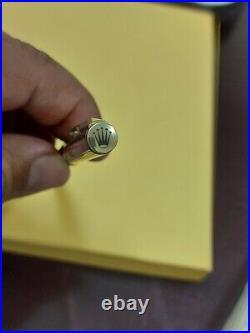 ROLEX Watch Genuine Novelty Ballpoint Pen Gold twist type Rare Vintage Authentic