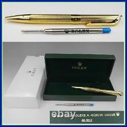 ROLEX Watch Official Novelty Ballpoint Pen Gold Color with Box from JP Very Rare