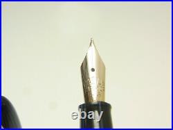 Rare 1940´s Italian RADIUS Blue Striated Fountain Pen Flexy 14ct F nib