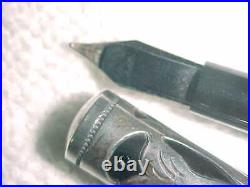 Rare 5 5/8 Waterman 414 Sterling Silver Eyedropper 05 Pat 14k Flexible Nib