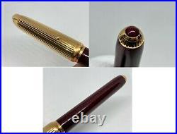 Rare! Auth CARTIER Limited Pasha de Ruby Red Lacquer Fountain Pen 18K Nib w Set