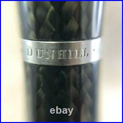 Rare Authentic Dunhill Ballpoint Pen AD1800 Carbon Fiber Gray with Case & Papers