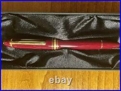 Rare Brand New Montblanc Meisteruck 146 Fountain Pen Bordeaux Burgundy Color