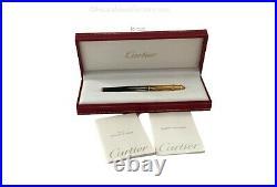 Rare Cartier Mini Diabolo Flames Fountain Pen M