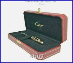 Rare Cartier Mini Diabolo Panthere Rose Gold Ballpont Pen