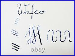 Rare German 1930´s WAFCO Wafconia Blue Flaked Fountain Pen Flexy 14ct F Nib