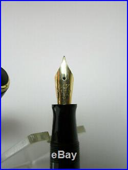 Rare Italian vintage WILLIAMSON brown laminated fountain pen 14ct M nib