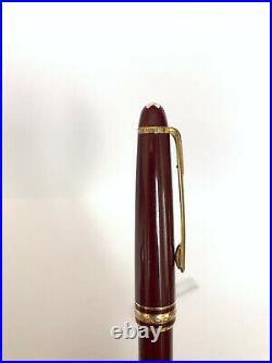 Rare Montblanc Burgundy Meisterstuck 144 18k Gold nib Fountain Pen Burgundy