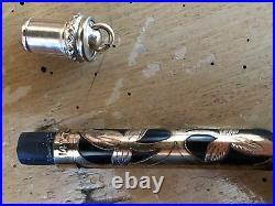 Rare Morrisons Vintage 14k Gold Filled 14K Nib Filigree Fountain Pen Pencil Set
