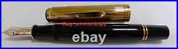 Rare New Black Green Vermeil Cap Pelikan M1050 Fountain Pen With 18k PF mark