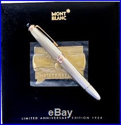 Rare New MONTBLANC Meisterstück146 Silver 75 Ann LE Diamond Fountain Pen 1999
