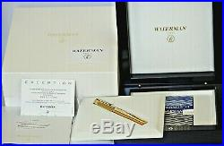 Rare New Waterman The Marks Of Time Limited Edition Fountain Pen M France