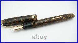 Rare Pen! Conway Stewart No 23, Tiger Eye, Semi Flex 14k Stub Medium Nib