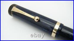 Rare Pen! Parker Senior Duofold, Lapis, Blue On Blue, 14k Medium Nib, USA
