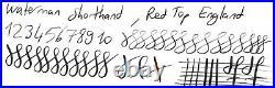 Rare Pen! Waterman 503 Shorthand, Black, Low Flex, 14k Fine Nib, England