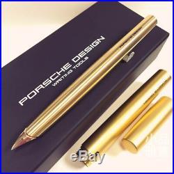 Rare Porsche Design P3135 Titanium Gold Plated 18K nib Fountain Pen