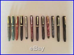 Rare Soennecken 222 Extra Grey Lizard Fountain Pen Ob 14 K Nib Excellent Cond