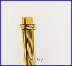 Rare Vintage Authentic Cartier Fountain Pen Vendome Trinity 18K Gold Nib