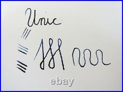 Rare Vintage French UNIC Ornamented Overlay Fountain Pen Flexy 18ct F Nib