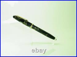 Rare Vintage Germany SILCO Black & Pearl Fountain Pen Flexy 14ct M Nib M to BB