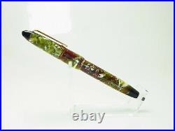 Rare Vintage Italian MELIOR Celluloid Fountain Pen Flexible 14ct F Nib SERVICED