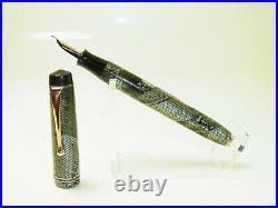 Rare Vintage SUMMIT S. 175 Green Lizard Pattern Fountain Pen 14ct M Nib SERVICED