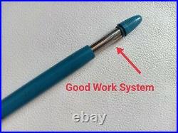 Rare Vintage Sheaffer Snorkel Foutain Pen Blue/GF 14K Nib Good Work Conditions