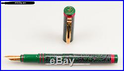 Rare vintage Waterman FORUM Fountain Pen in Green Design / F or M nib (1980's)