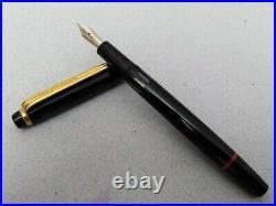 Rotring Renaissance Fountain Pen Black GT EF Nib W-Germany c1990 Vintage Rare